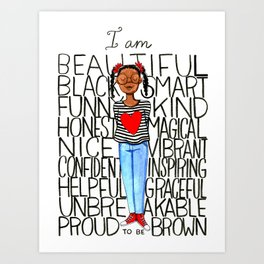 Proud to be brown (girl) Art Print