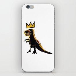 basquiat dinosaurus iPhone Skin