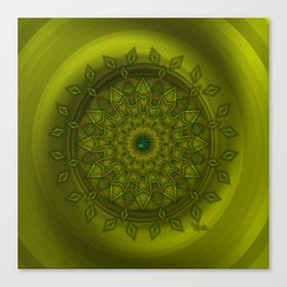Positive thoughts - Jewel Mandala Canvas Print