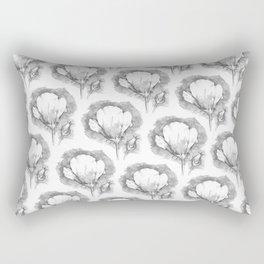 Poppy Flower Pattern Rectangular Pillow