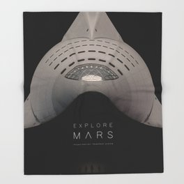Explore Mars Throw Blanket