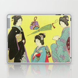 Japanese Art Print - Flowers of the City Laptop & iPad Skin