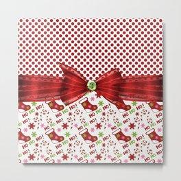 Christmas Ho Ho Ho Metal Print