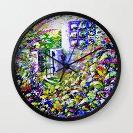 Country Garden Retreat Wall Clock
