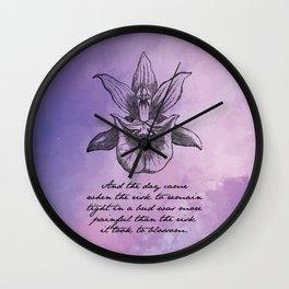 Anais Nin - Tight Blossom Wall Clock