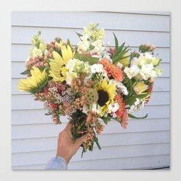 Hand Tied Sunflower Bouquet Canvas Print