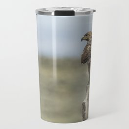 Red-Tailed Hawk Preparing to Fly Travel Mug