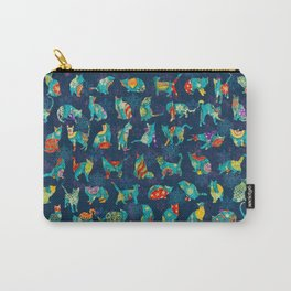 Colorful Christmas cats Carry-All Pouch