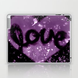 Love Heart - Purple Laptop & iPad Skin