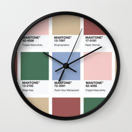 MANTONE® Colour Palette Wall Clock