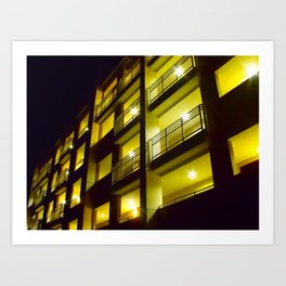 Yellow Apartments Art Print