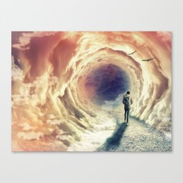 Shortcut to the Sea Canvas Print