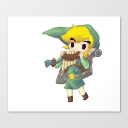 Plain Link Fan Art Canvas Print