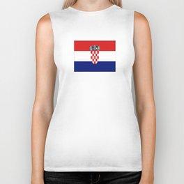 Flag of croatia -croatian, Hrvatska,croat,croacia,Zagreb,split,rijeka,osijek. Biker Tank