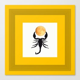 A Scorpion With The Moon In The Frame #decor #homedecor #buyart #pivivikstrm Canvas Print