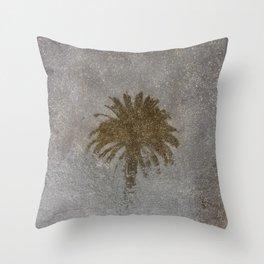 Rainy Day Palm Tree Throw Pillow