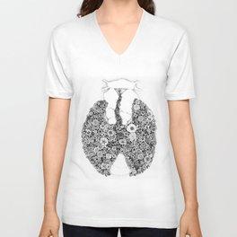 Anatomy Series: Thyroid Gland Flowers Unisex V-Neck