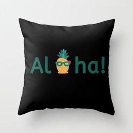 Aloha Hawaii Pineapple Summer Vibes Beach Paradise Chill Time Throw Pillow
