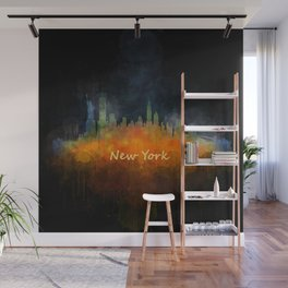 New York City Skyline Hq V04 Wall Mural