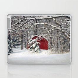 Red Barn in the Snow 2011 Laptop & iPad Skin