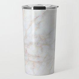 White Marble 004 Travel Mug