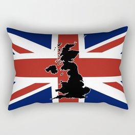 UK Silhouette and Flag Rectangular Pillow