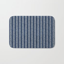 Mud cloth - Navy Arrowheads Bath Mat