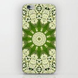 Elderflower mandala iPhone Skin