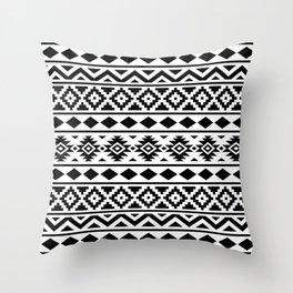 Aztec Essence Ptn III Black on White Throw Pillow