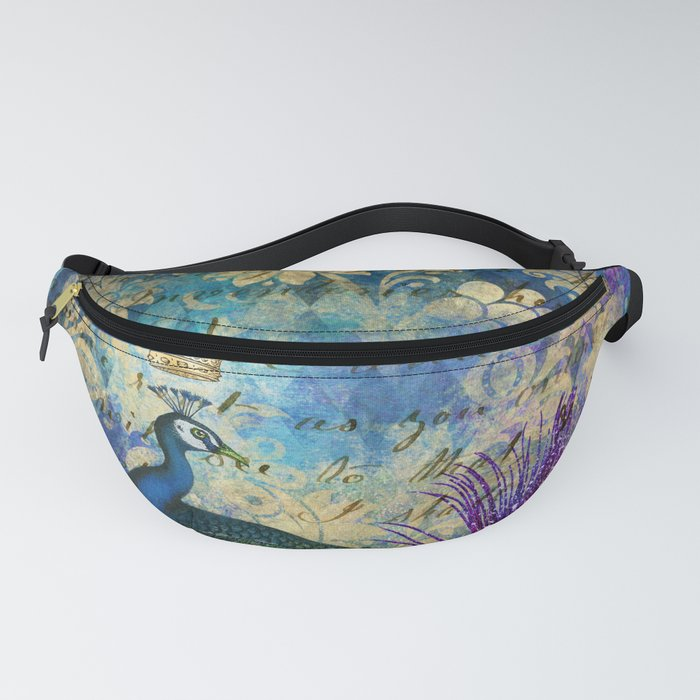 Feather Peacock 20 Fanny Pack