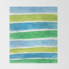 Sea Stripes Throw Blanket