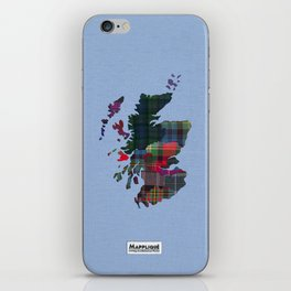 Scotland Counties Fabric Map Art iPhone Skin