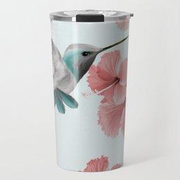 Hummingbird with Hibiscus Travel Mug
