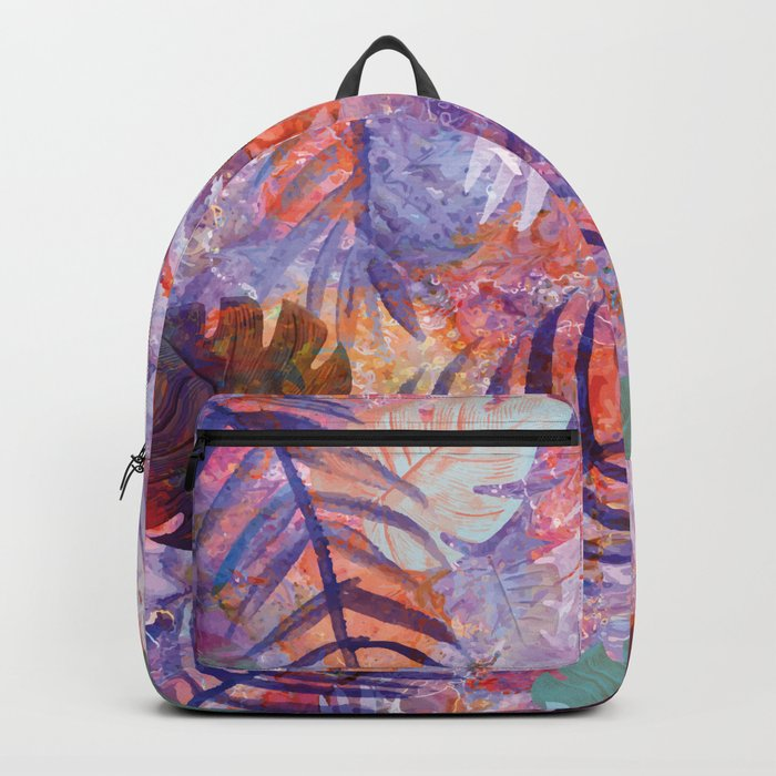 Colourful Palm Electric Garden  #tropical #palm #society6 Backpack