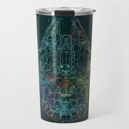 Millennium Falcon Painters Schematic Travel Mug