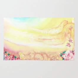 Angels and roses Rug
