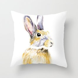 Hare Bunny Throw Pillow