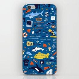 Life Aquatic Plot Pattern iPhone Skin