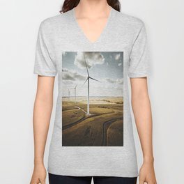 windturbine in nebraska Unisex V-Neck
