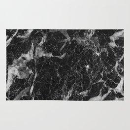 Campari - black marble Rug