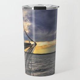 Sunset off the Bow Travel Mug