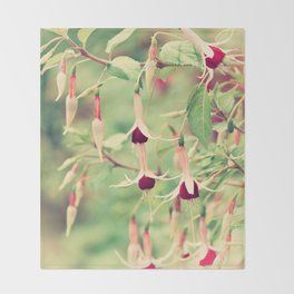 Beautiful Fuchsia Flowers Throw Blanket