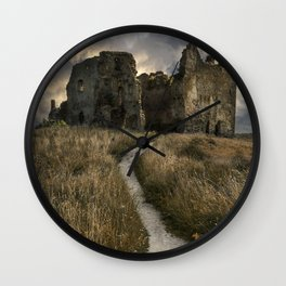 Forgotten castle in Estonia Wall Clock