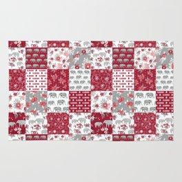 Alabama bama crimson tide quilt pattern florals football varsity alumni Rug