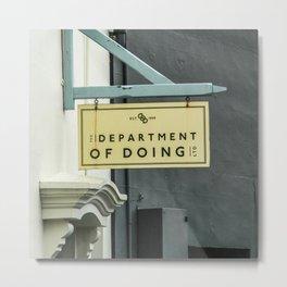 Shop Sign Metal Print