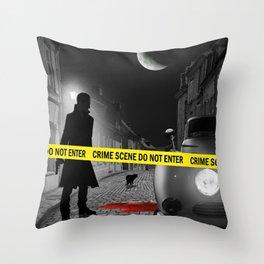 Crime scene do not enter Throw Pillow