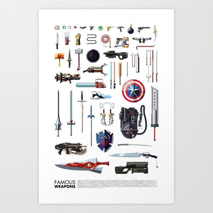 Famous Weapons Art Print