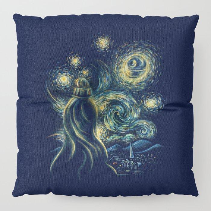 Death Starry Night Floor Pillow