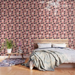 Abstract Circles In Pink Wallpaper