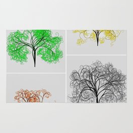 Spring, Summer, Fall, and Winter Trees Rug